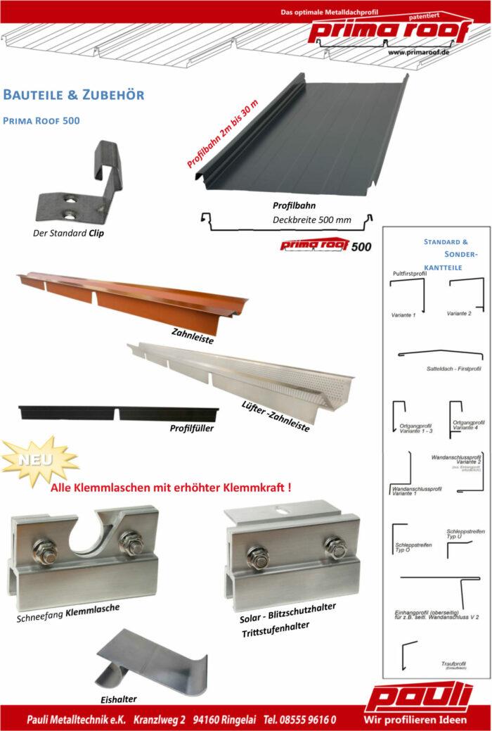 Prima Roof Bauteile