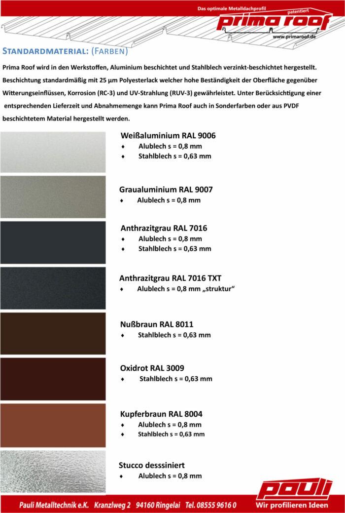 Prima Roof Farben